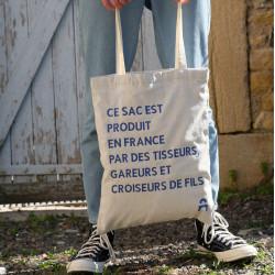 Tote bag bicolore écoresponsable