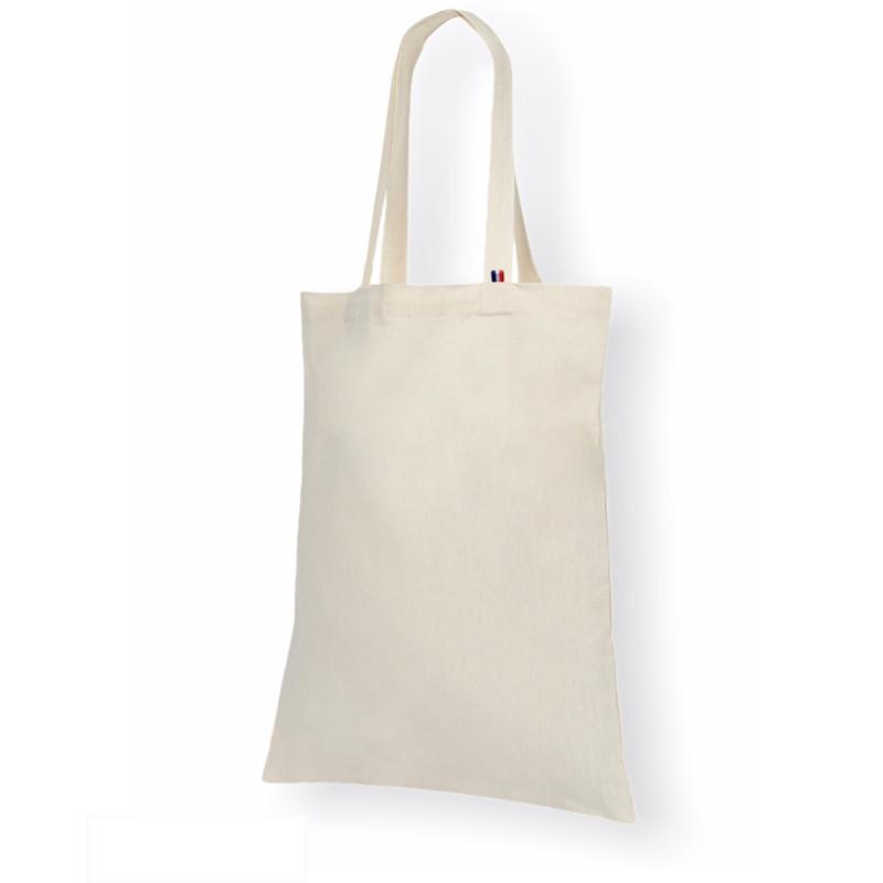 Tote bag vierge, tissé en chaîne blanche