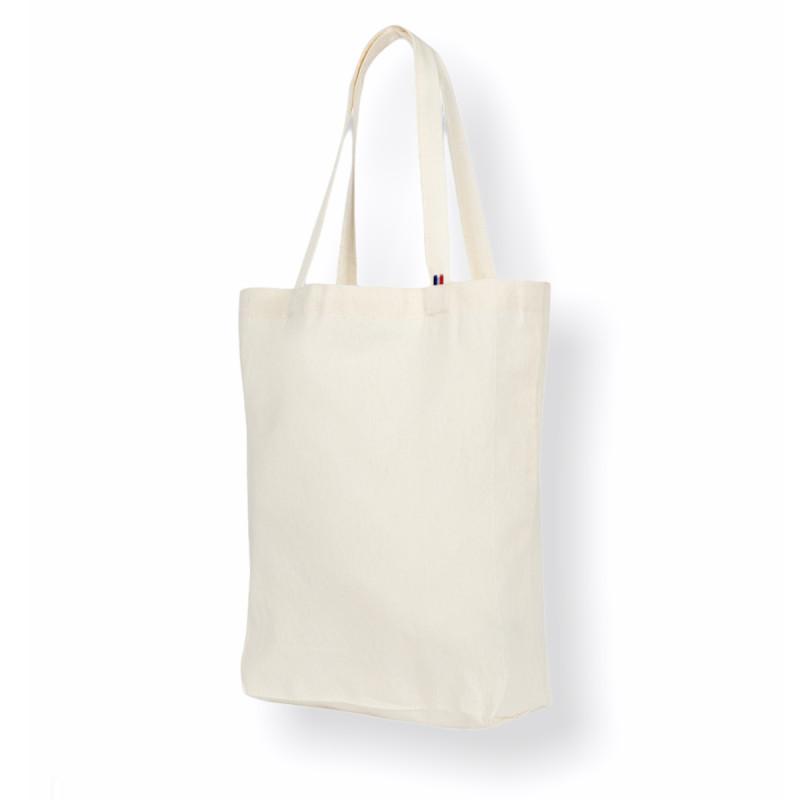 Tote bag soufflet destiné à l'impression et la sérigraphie, tissage et confection 100% française