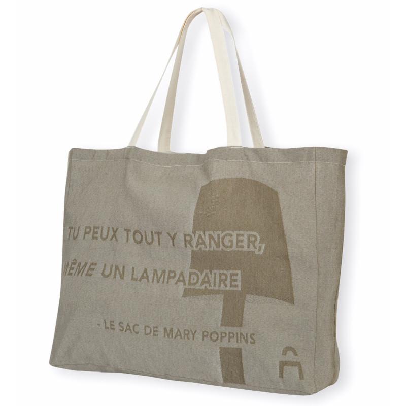 Cabas XXL de courses en tissu personnalisable et produit en France dans la Loire