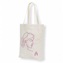 Tote bag soufflet bicolore, tissus en matière recyclée, personnalisable et 100% produit en France