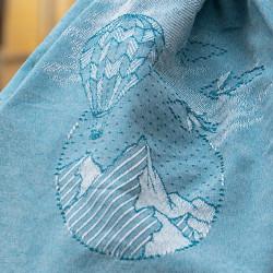 Zoom sur le sac matelot, tissage monochrome d'un visuel créatif