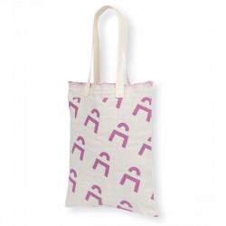 Tote bag bicolore personnalisable à franges