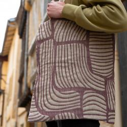 Tote bag en lin, 100 % tissé et confectionné en France, rendu personnalisable