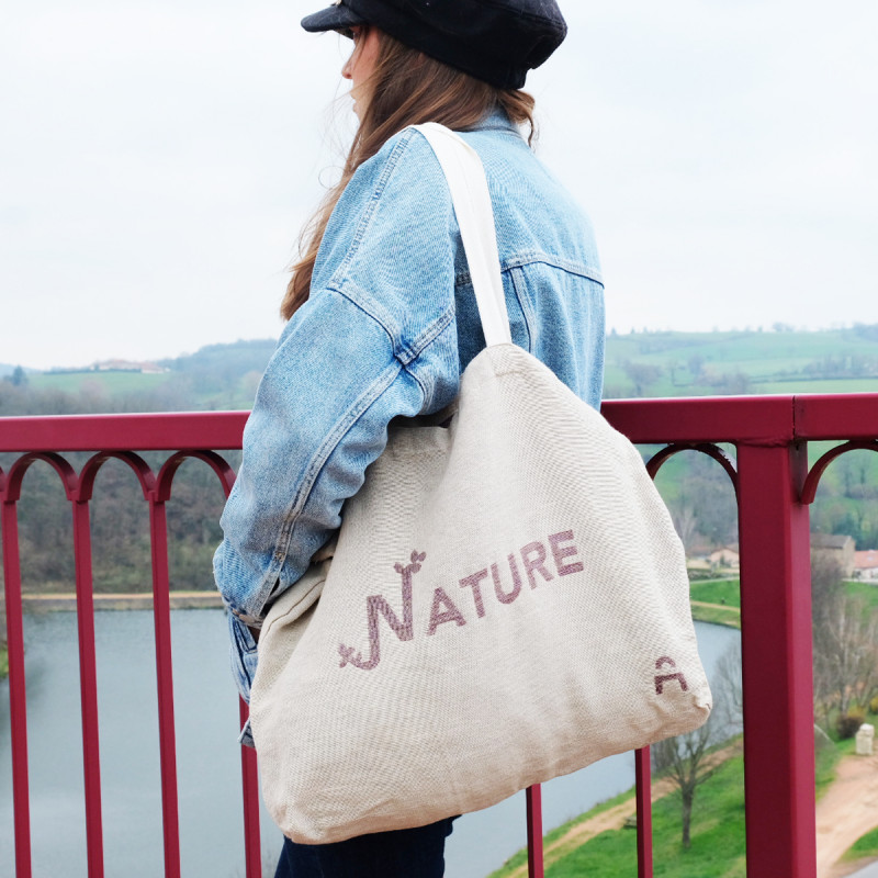 Cabas, en matière naturelle cultivée en France, écoconçu et personnalisable à votre image