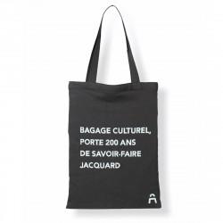 Tote bag bicolore écoconçu chaîne noire