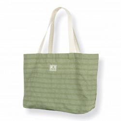 Cabas classique bicolore vert en gamme de couleurs chaîne blanche