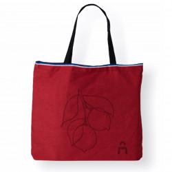 Cabas format médium rouge, idéal pour faire des courses