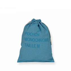 Pochon de taille M, tissé et confectionné en France, personnalisable en monochrome