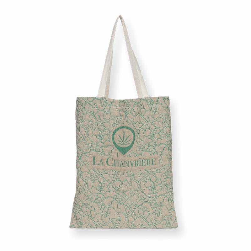 Tote bag classique composé en chanvre recyclé, personnalisable et tissé en France