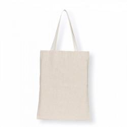 Tote bag classique uni, composée en matières naturelles dont du chanvre recyclé, tissé en France